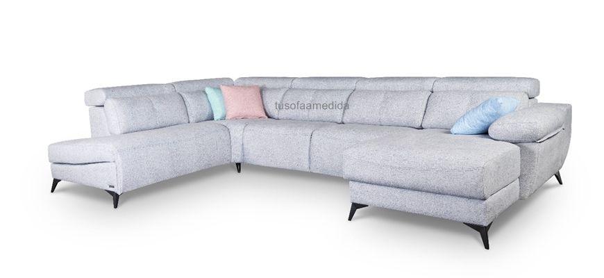 Sofá relax motor rinconera de sentada suave, con buen soporte lumbar y cervical. Sofá vanguardista fabricado a medida, de pata alta y brazo siesta que combina a la perfección diseño y comodidad.