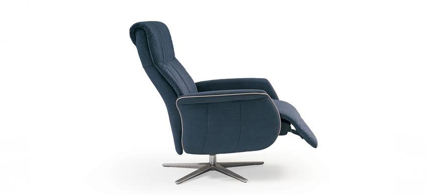 Contemporaneo , actual , sumamente cómodo, una pieza para los más exigentes en diseño. La zona de reposacabeza con posiciones. Pie giratorio de acero.